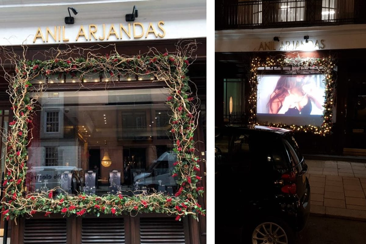 Digital Signage+Retail Displays+Rear Projection+Projection Screens and Solutions - Switchable Film - Anil Arjandas Jewellers 3
